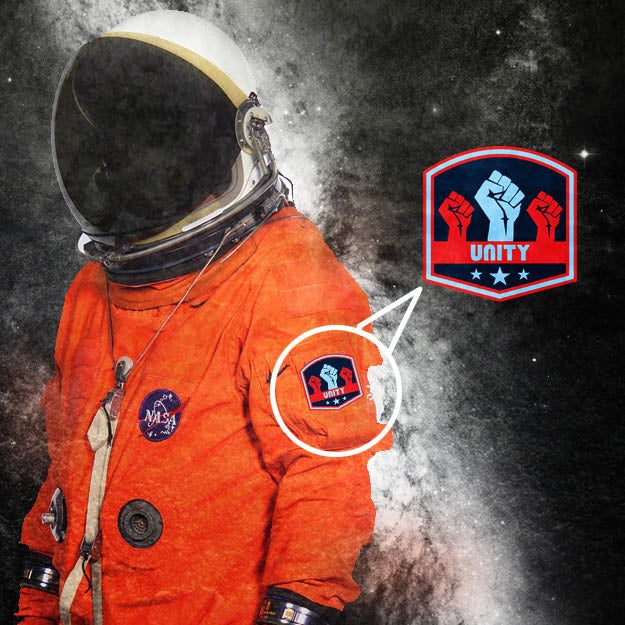 "Image of ""Unity"" space badge"