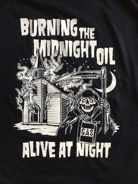 """Image of """"Burning The Midnight Oil"""" T-Shirt"""