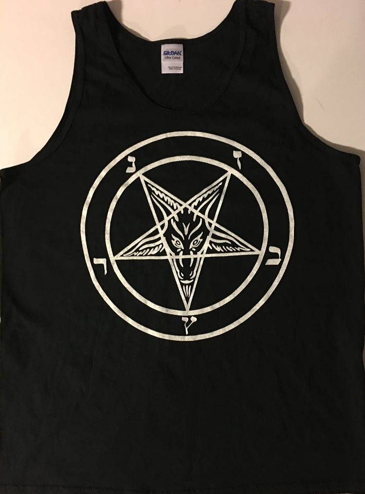 Image of Pentagram - Tank Top with White printed Pentagram