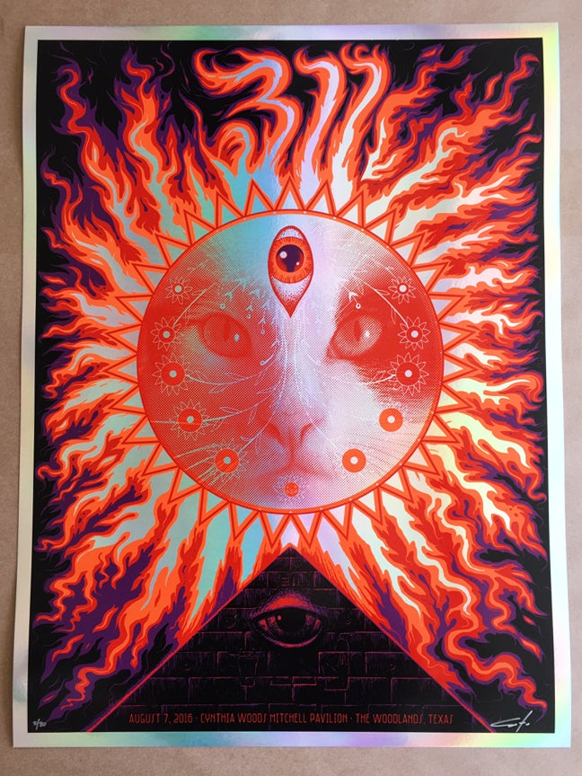 Image of 311 Houston Rainbow Foil Poster