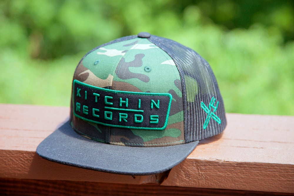 Image of Kitchin Records Snapback (Camo)