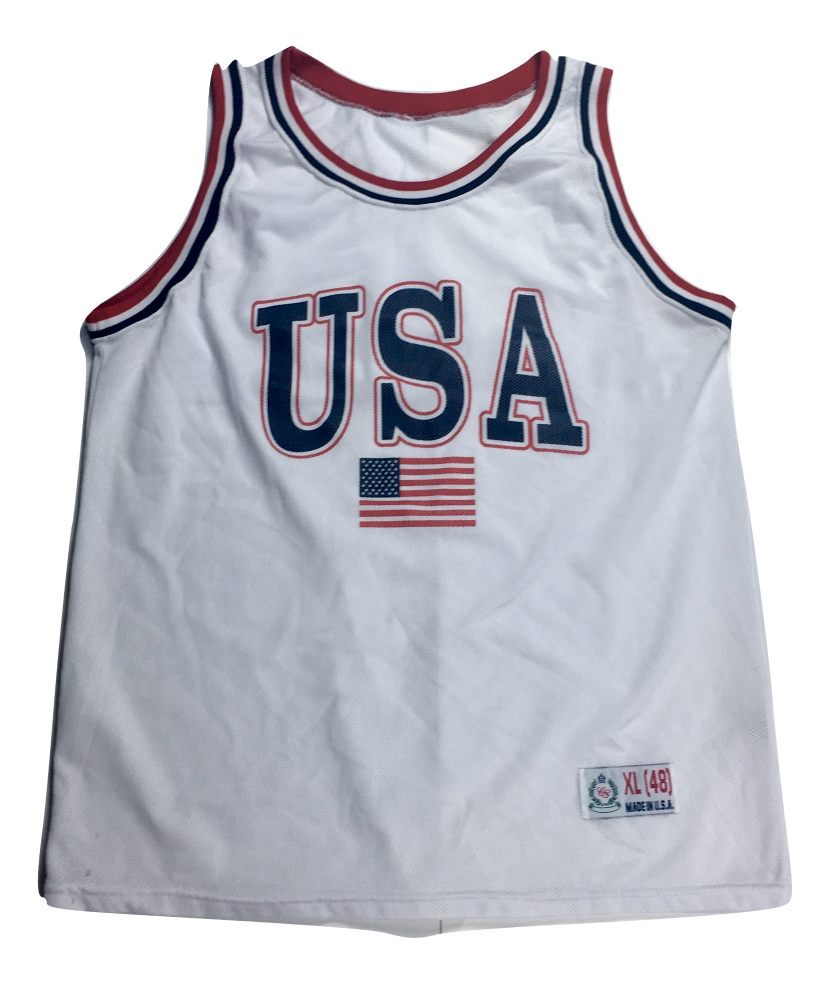 Image of USA mesh Basketball jersey