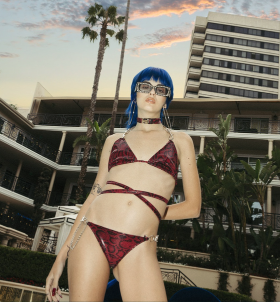 Image of Sita Abellan X Freak City Industrial snake skin freak bikini