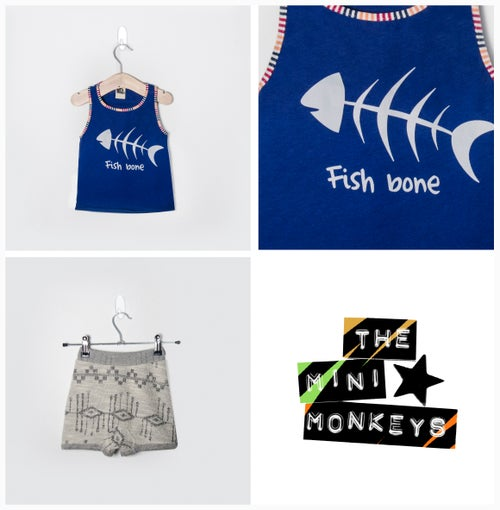 Image of fish bone t-shirt