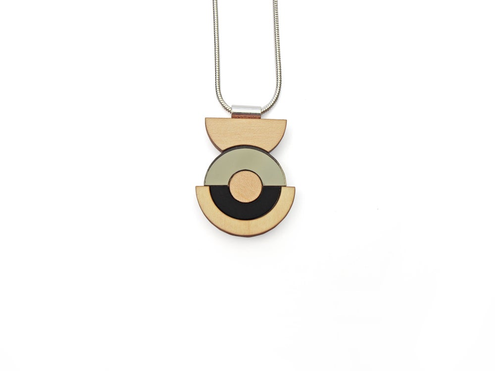 Image of Concentric Circle Necklace - Bronze
