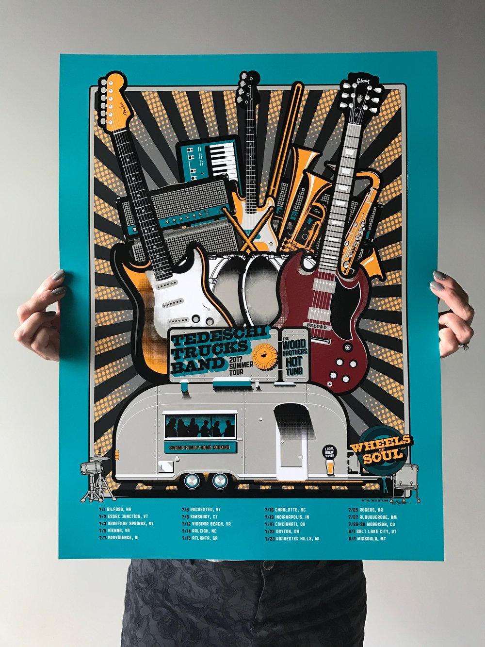 Tedeschi Trucks Band, Wheels of Soul 2017 Tour Poster
