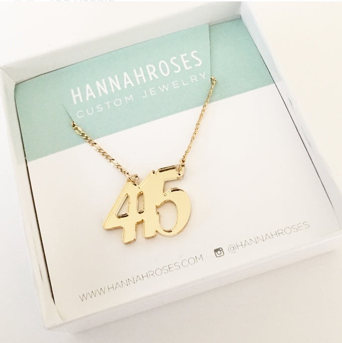 Image of Custom GOLD AREA CODE Necklace
