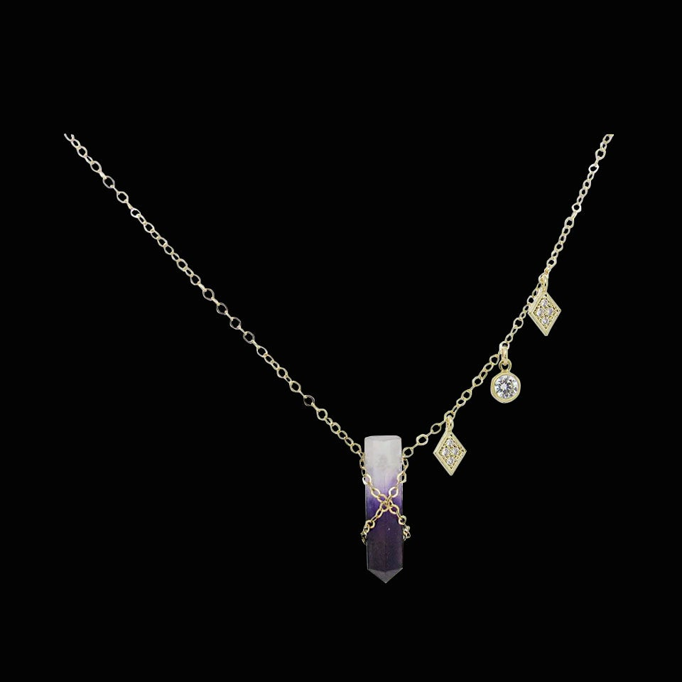 Image of Amethyst & Topaz Necklace