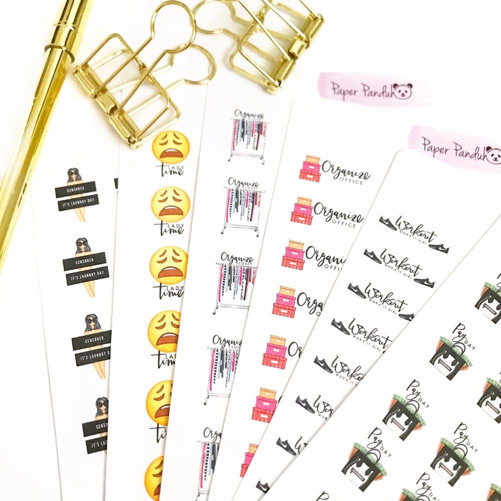 Image of Set 2 Chic Mini Icon Planner Stickers