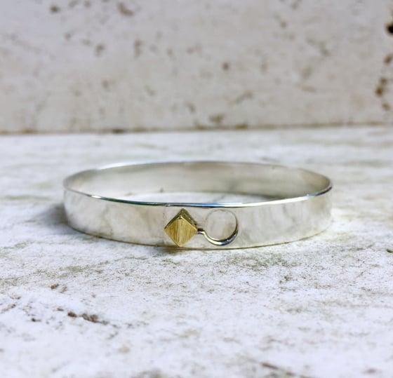"Image of Silver bronze ""diamond"" lock bracelet"