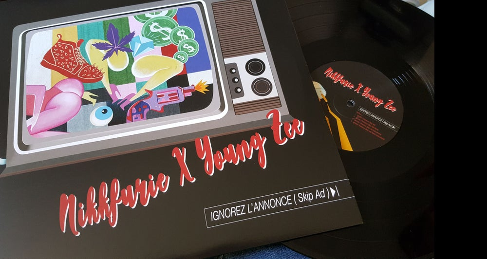 Image of Nikkfurie X Young Zee : Ignorez l'Annonce/Back 'N Forth EP Vinyl