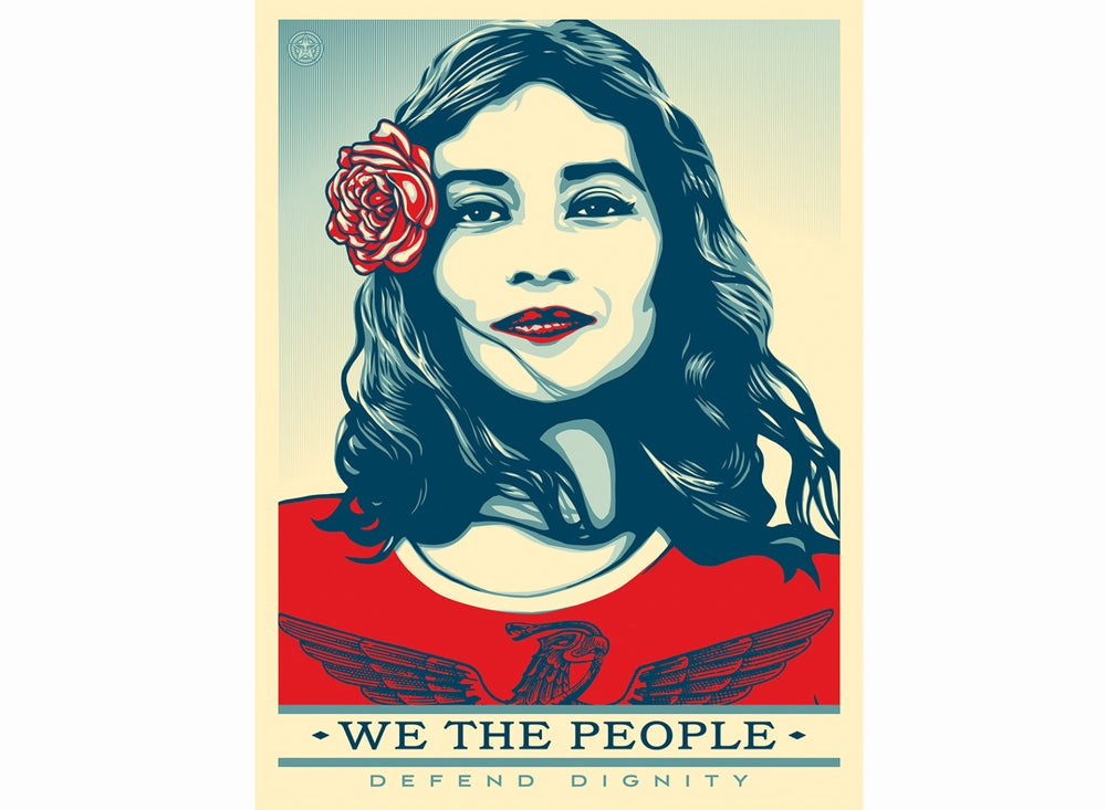 Image of We the People: Defend Dignity Offset Lithograph Print