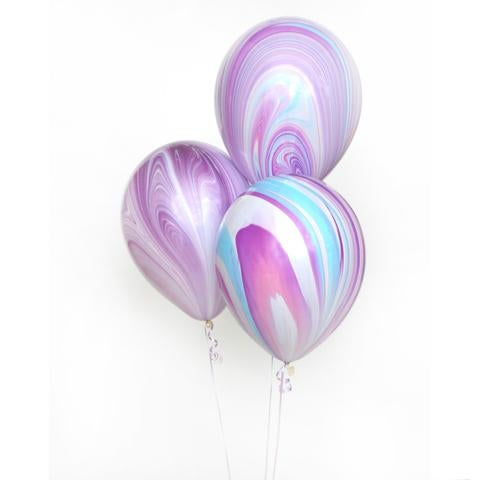 Image of Marble Agate Balloons - Cotton Candy