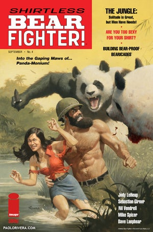 Image of Shirtless Bear-Fighter Print