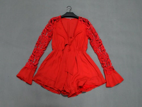 Image of Vianna Playsuit Red