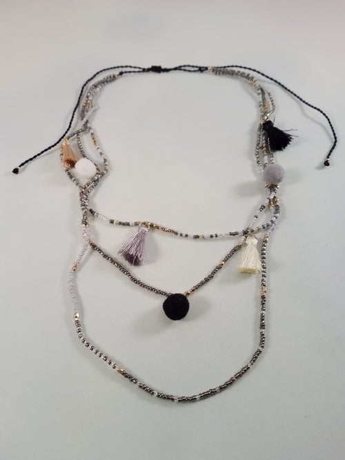 Image of Tassel & Bead Necklace