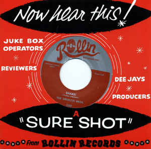 "Image of 7"" The Sirocco Bros : Shake / Davy Jones Locker."