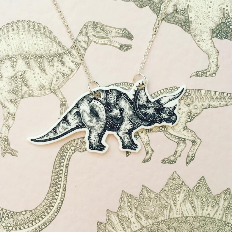 Image of Triceratops Necklace