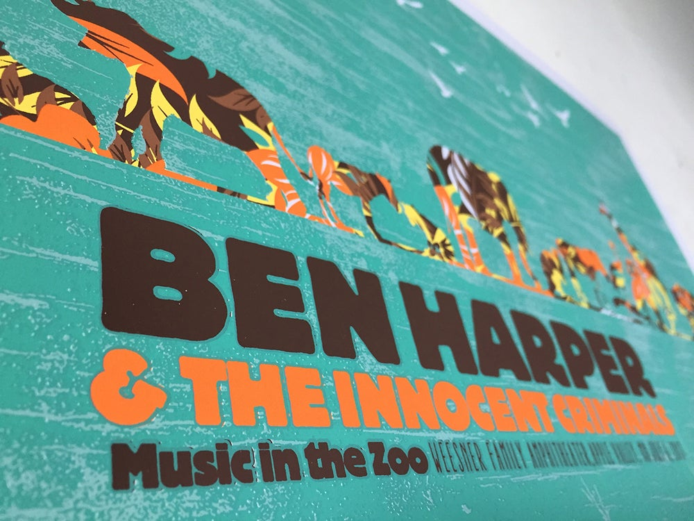 Ben Harper & The Innocent Criminals, At The Zoo Poster