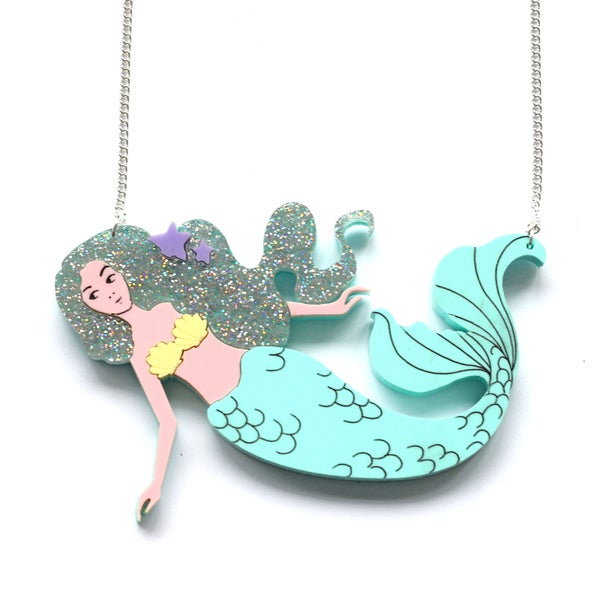 Image of Mermaid Necklaceor Brooch.