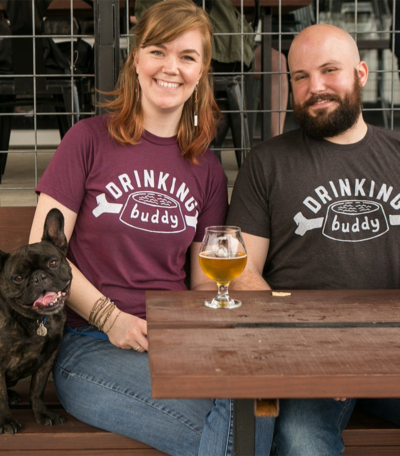 Image of Drinking Buddy Tee - Heather Graphite