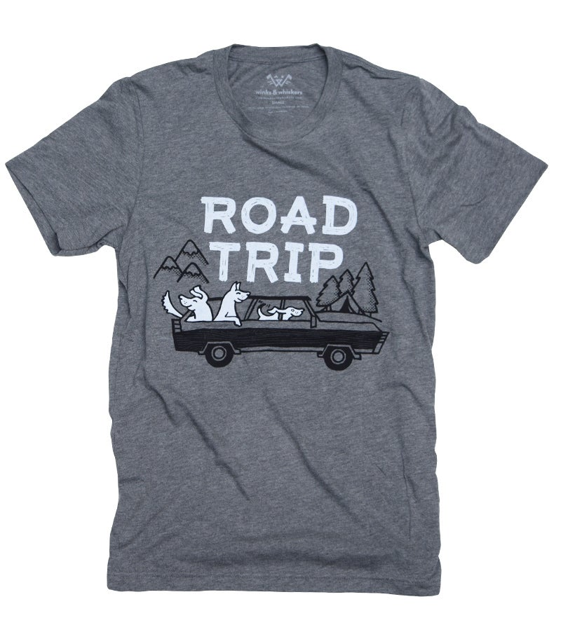 Image of Road Trip Tee - Grey Triblend