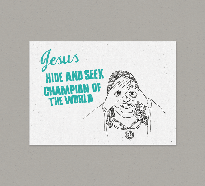 Image of Jesus Hide & Seek - Card