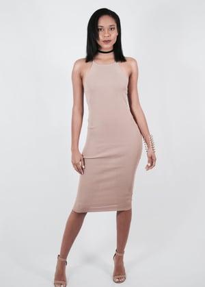 Image of Gated Nude Midi Dress