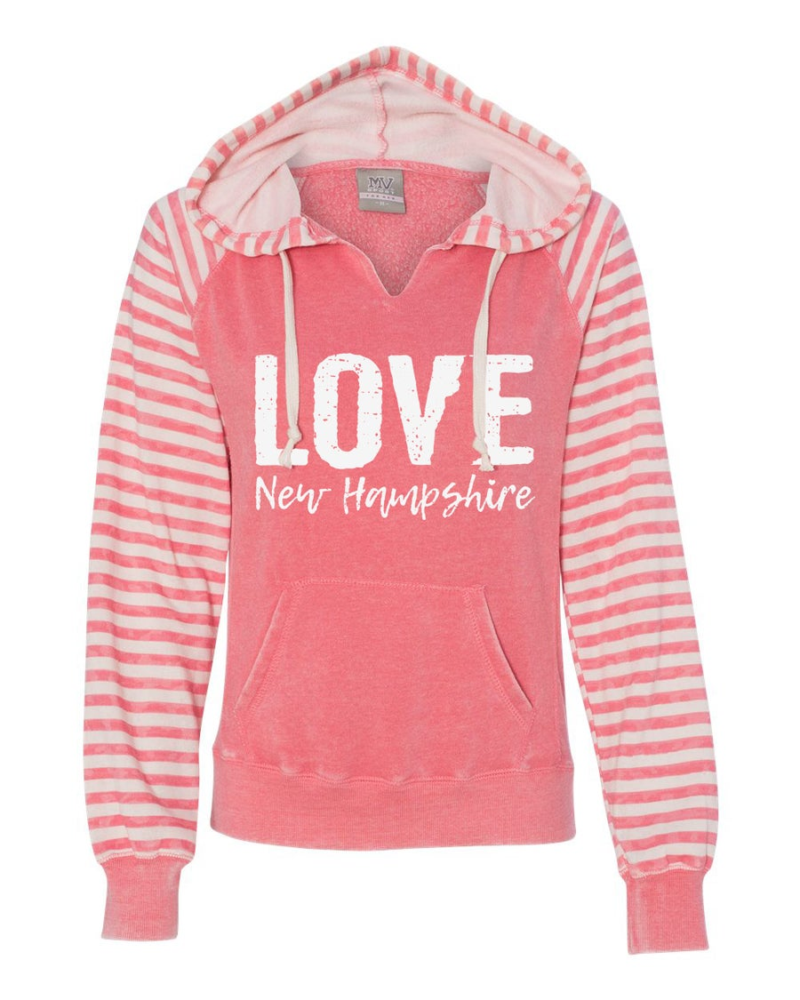 Image of Coral NH Love Ladies Angel Fleece Sweatshirt