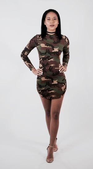 Image of Camo Mini Dress