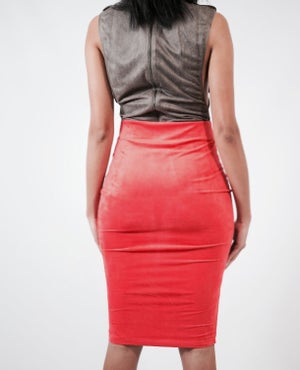 Image of Spring Suede Skirt