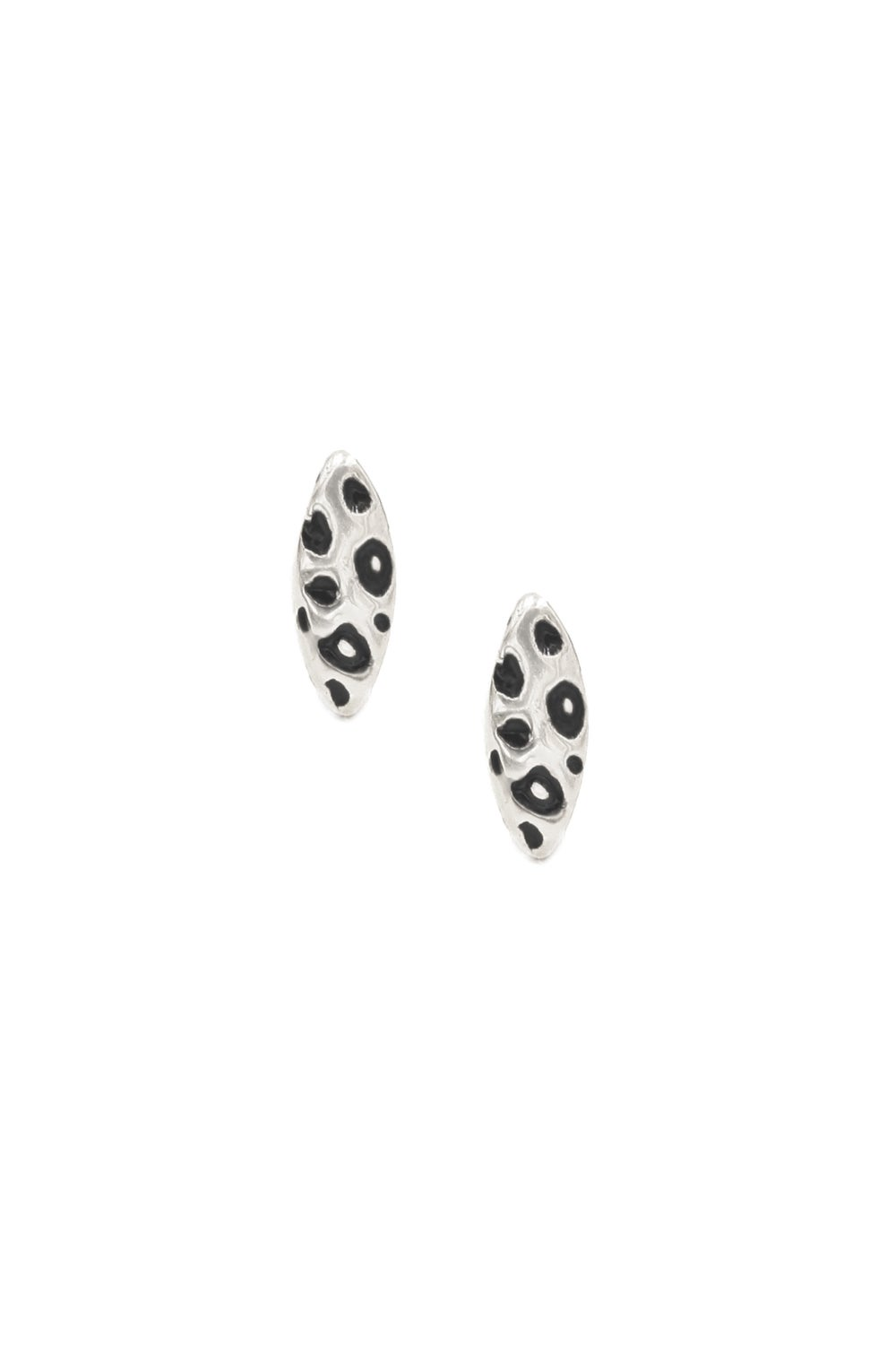 Snow Leopard Cat Eye Studs