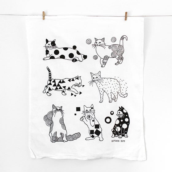 Image of Cats Tea Towel
