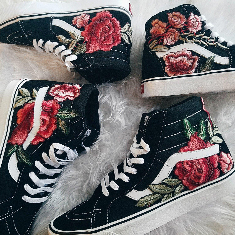 sk8 hi vans roses