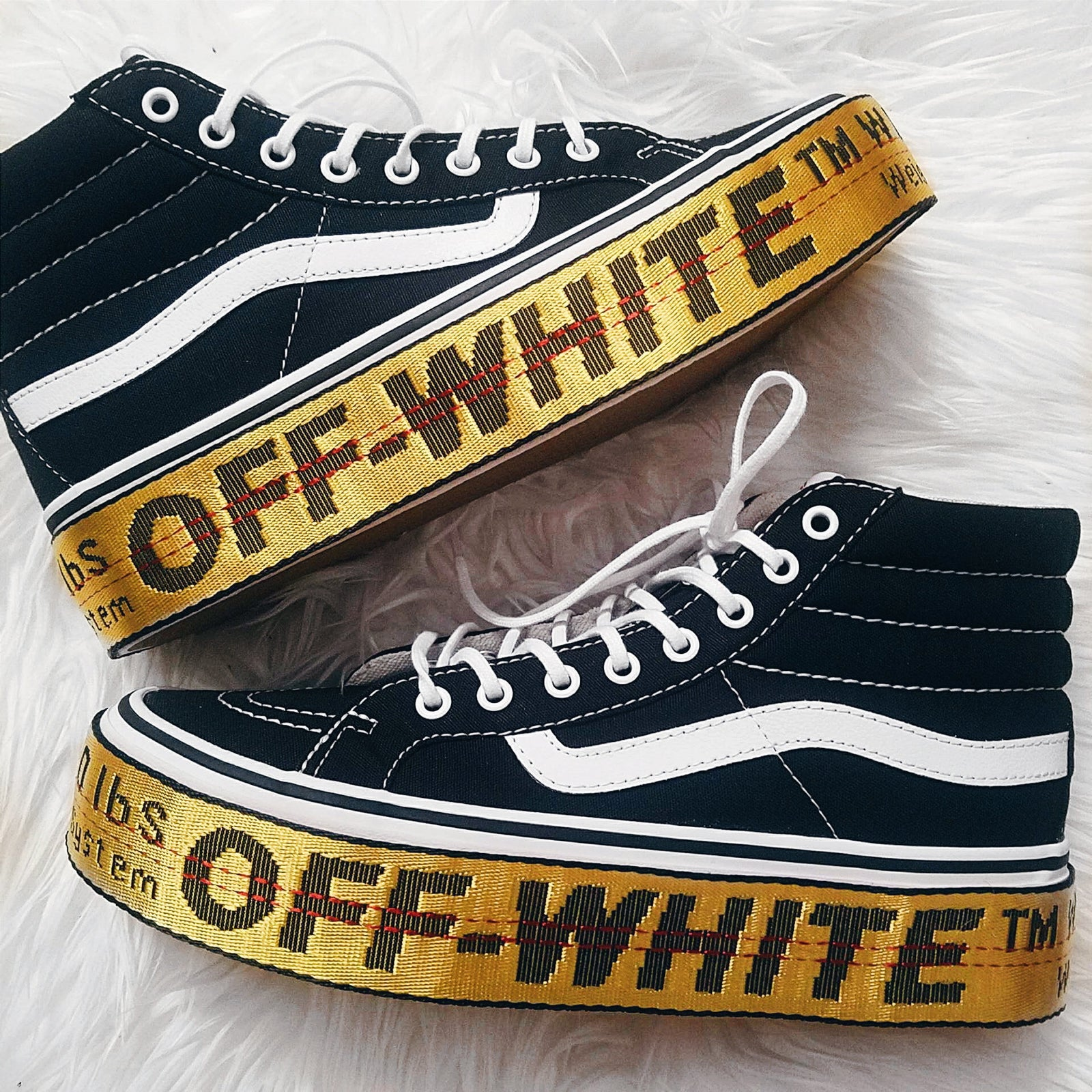 Custom Off-White Inspired Platform Sk8 Hi Vans