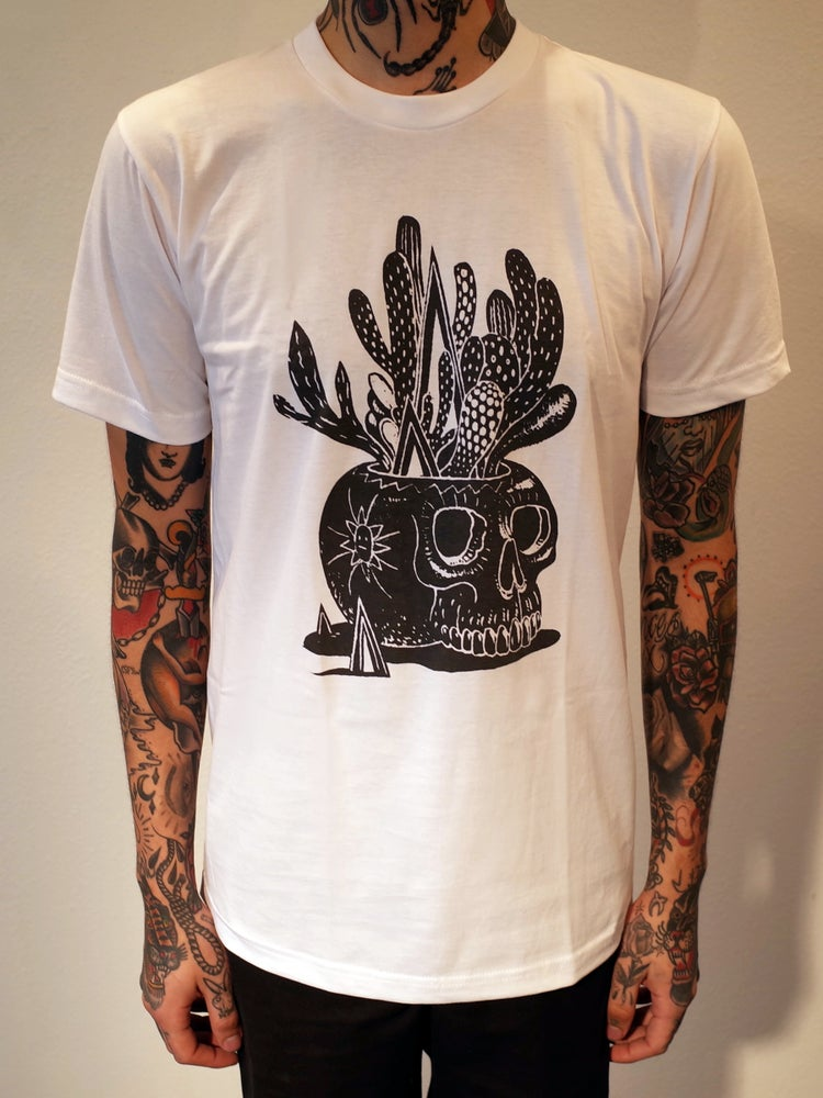 Image of Skull Pot Mens Shirt White