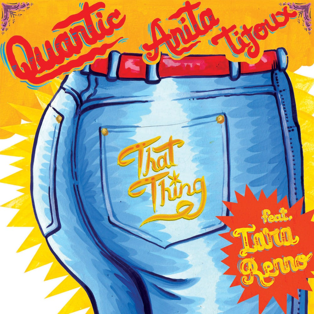 """Quantic Y Anita Tijoux - Doo Wop (That Thing) b/w Entre Rejas (red 7"""")"""