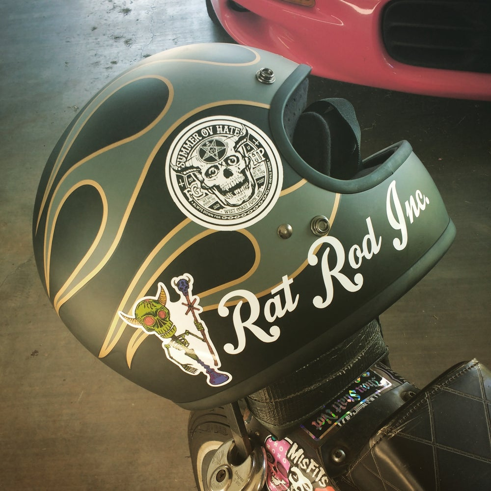 Image of Rat Rod Inc. vinyl text decal 07