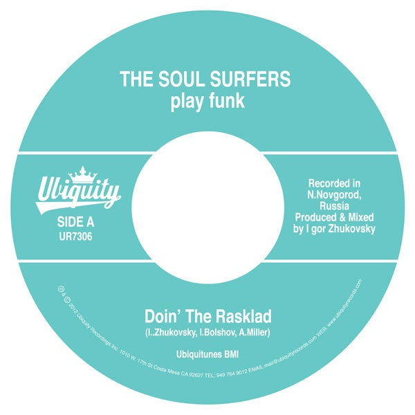 "The Soul Surfers - Doin' The Rasklad b/w Girl From Sao Paulo (7"" white vinyl)"