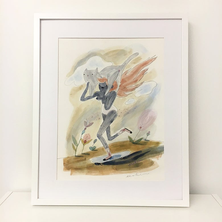 Image of Rolling Girl Rider - Print