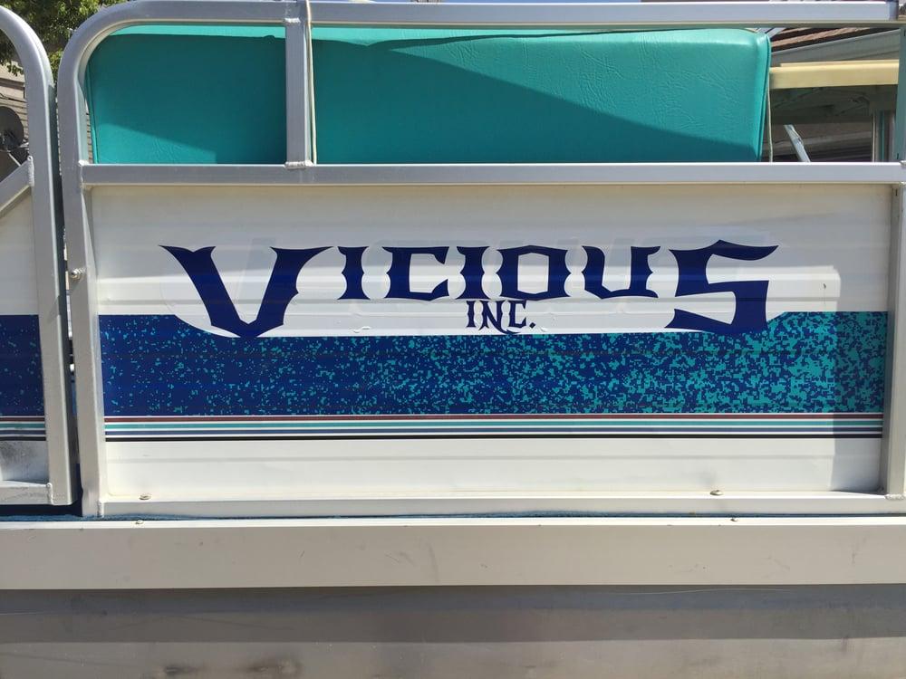 Any Custom Cut Vinyl Decal VICIOUS INC - Custom cut vinyl decals