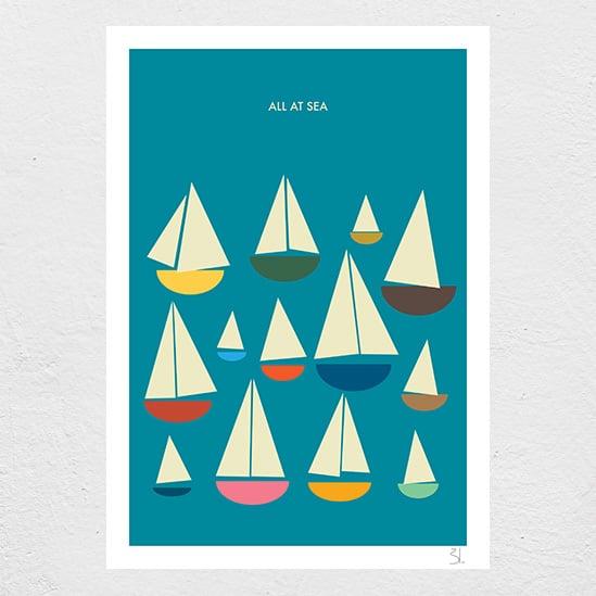 Image of All at Sea Print