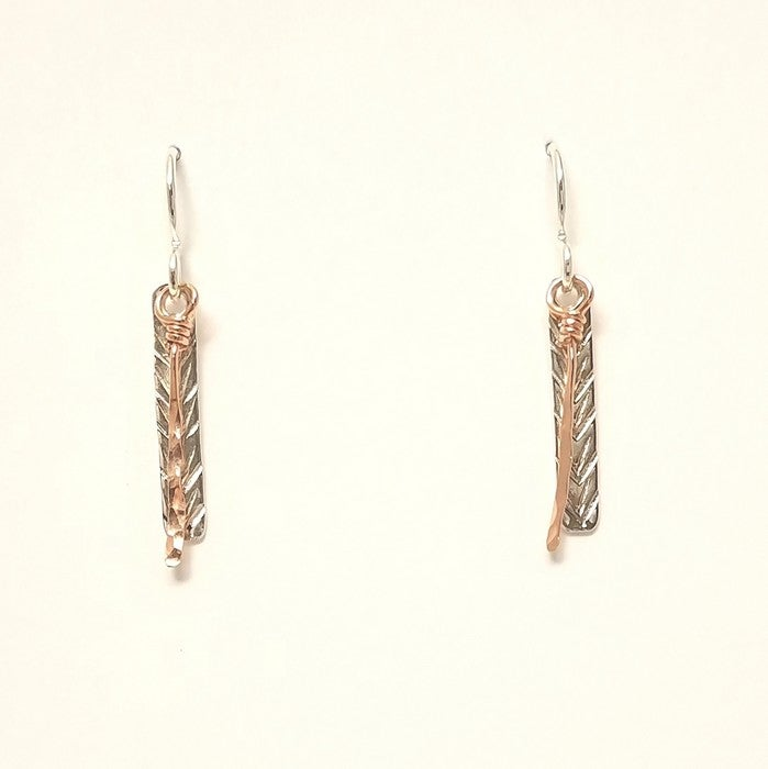 Image of Reflections of white pine earrings short