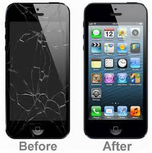 image of iphone 5 5c and 5s cracked screen repair
