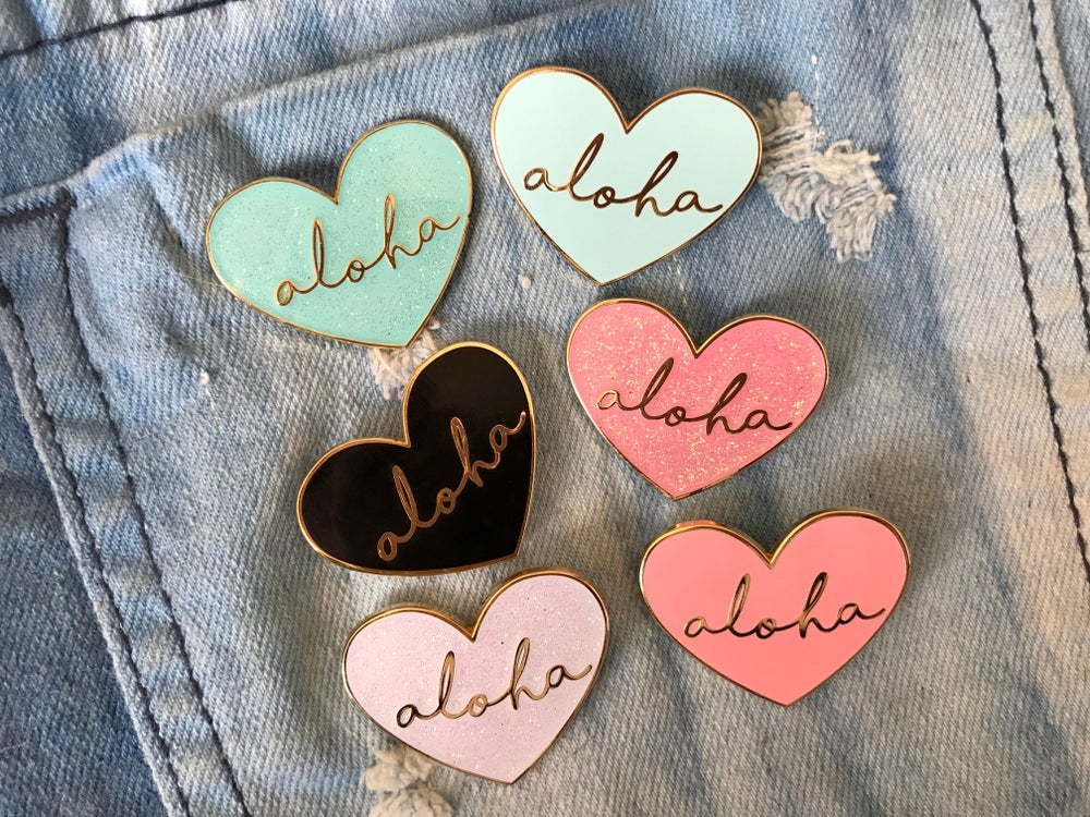 Image of Aloha Heart Enamel Pin