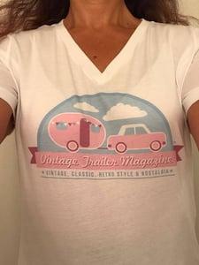Image of Ladies White T Shirt