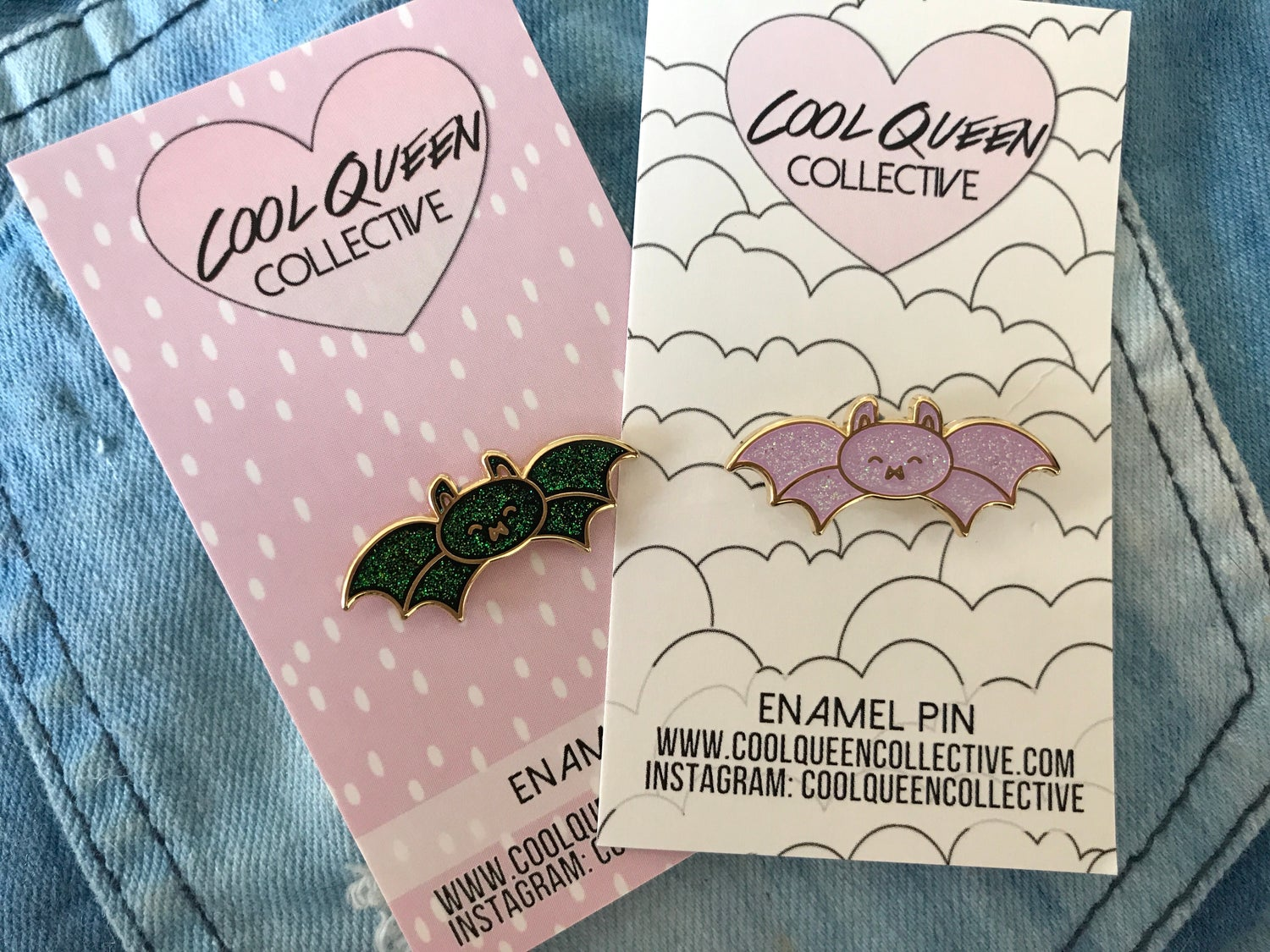 Image of Bat Glitter Enamel Pin