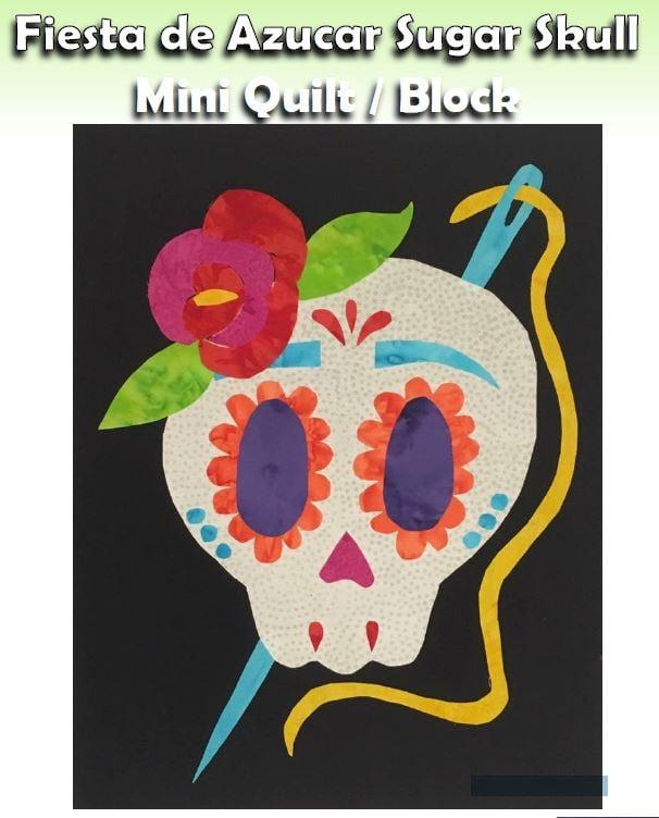 PDF - Sewing Sugar Skull Block - Fiesta de Azucar