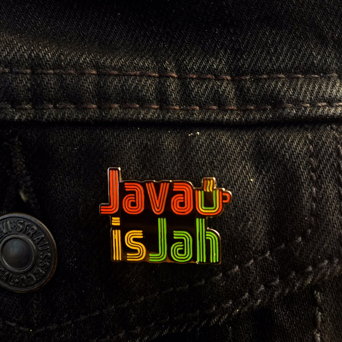Image of Java is Jah Enamel Pin Coffee