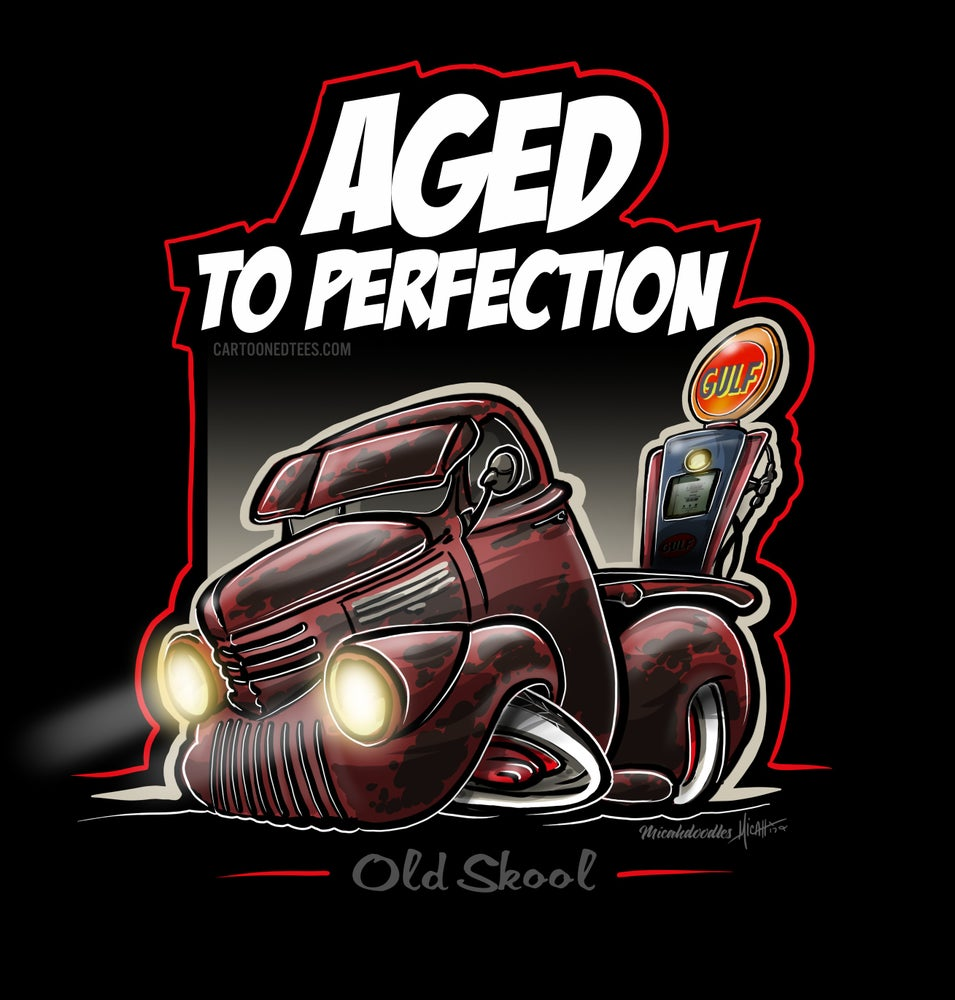 Image of Aged to Perfection Pick'em up Truck Mancave Banner